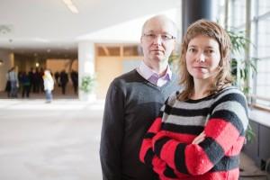 Malin Björk och Mikael Gustafsson. Toppkandidater i EU-valet. Bild: Kalle Larsson