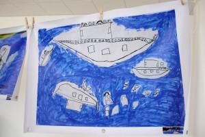 Ett barns bild av resan över Medelhavet Bild: David Lundy