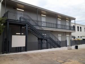 Den nybyggda kvinnopaviljongen på Lampedusas  flyktingcenter. Notera att det inte finns fönster! Efter påtryckningar lovade ledningen att se till att fönster sätts in. Bild: Malin Björk