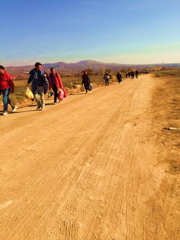 Vandring mot Presovo, Serbien (Foto: Malin Björk)