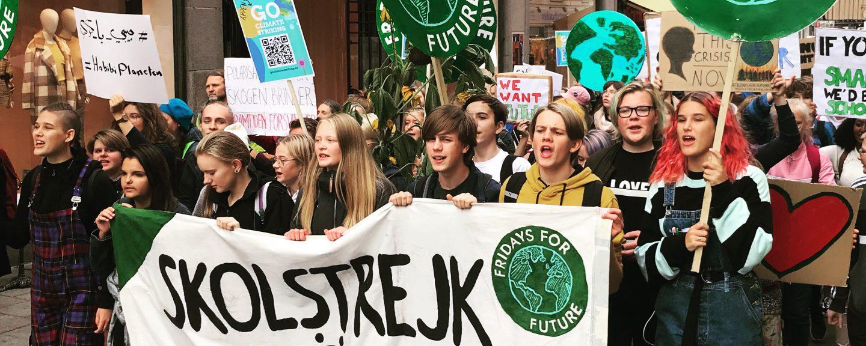 Klimatstrejk. Foto: Torbjörn Granrot